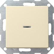 Выключатель с подсветкой с самовозвратом 10 А / 250 В~ в сборе Gira System 55 Кремовый