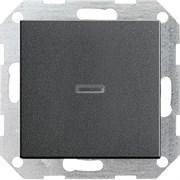 Выключатель с подсветкой с самовозвратом 10 А / 250 В~ в сборе Gira System 55 Антрацит