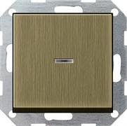 Выключатель с подсветкой с самовозвратом 10 А / 250 В~ в сборе Gira System 55 Бронза 0136603