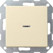 Выключатель с подсветкой с самовозвратом проходной 10 А / 250 В~ в сборе Gira System 55 Кремовый