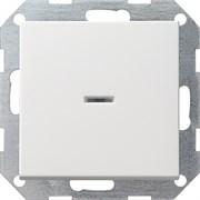Выключатель с подсветкой с самовозвратом проходной 10 А / 250 В~ в сборе Gira System 55 Белый