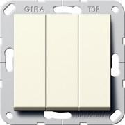 Выключатель Gira самовозвратом 3-клавишный 10 A 250 В~ Gira System 55 Кремовый