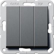 Выключатель Gira самовозвратом 3-клавишный Антрацит (284428)