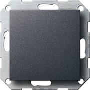 Заглушка с опорной пластиной Gira System 55 Антрацит 026828