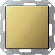 Заглушка с опорной пластиной Gira System 55 Латунь 0268604