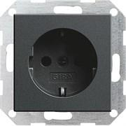 Розетка 16 А / 250 В~ Gira System 55 Антрацит 018828