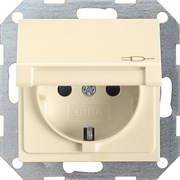 Розетка с откидной крышкой с защитой от детей 16 А / 250 В~ Gira System 55 Кремовый 041401