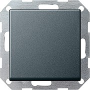 Клавишный перекрёстный выключатель Gira в сборе Антрацит 010700/029628