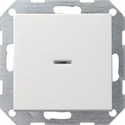 Клавишный выключатель с подсветкой проходной в сборе Gira Белый Глянцевый 010600/029003