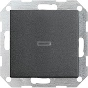 Клавишный выключатель с подсветкой проходной в сборе Gira Антрацит 010600/029028