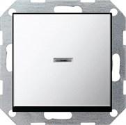 Клавишный выключатель с подсветкой проходной в сборе Gira Хром 010600/0290605