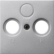 Антенная розетка TV-FM-SAT в сборе Gira System 55 Алюминий