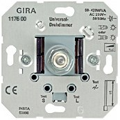 Вставка универсального светорегулятора 2 с поворотной кнопкой Gira System 55