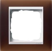 Рамка 1-пост для центральных вставок белого цвета, Gira Event Темно-коричневый