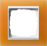 Рамка 1-пост для центральных вставок белого цвета, Gira Event Оранжевый
