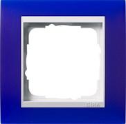 Рамка 1-пост для центральных вставок белого цвета, Gira Event Синий