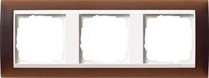 Рамка 3-пост для центральных вставок белого цвета, Gira Event Темно-коричневый