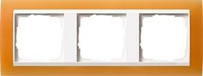 Рамка 3-пост для центральных вставок белого цвета, Gira Event Оранжевый