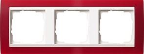Рамка 3-пост для центральных вставок белого цвета, Gira Event Красный