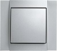 Рамкa 1-пост, Berker B.1 цвет: алюминий, матовый 10111404