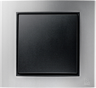 Рамкa 1-пост, Berker B.3 цвет: Алюминий/антрацитовый