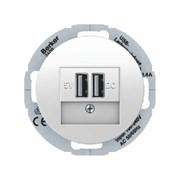 USB зарядка, Berker R.Classic, полярная белизна, с блеском 26002089