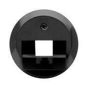Центральная панель для розетки UAE, RJ45, Berker 1930/Glasserie/Palazzo цвет: Чёрный, с блеском