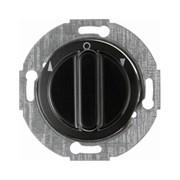 Жалюзийный поворотный выключатель с центральной панелью и вращающейся ручкой, Berker 1930/Glasserie/Palazzo цвет: Чёрный, с блеском