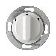 Жалюзийный поворотный выключатель с центральной панелью и вращающейся ручкой, Berker 1930/Glasserie/Palazzo цвет: полярная белизна, с блеском