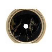 Декоративная промежуточная накладка для поворотных выключателей/кнопок, Berker Palazzo цвет: Чёрный