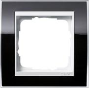 Рамка 1-пост, Gira Event Clear для центральных вставок белого цвета Чёрный