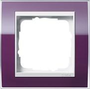 Рамка 1-пост, Gira Event Clear для центральных вставок белого цвета цвет кабачка