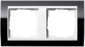 Рамка 2-пост, Gira Event Clear для центральных вставок белого цвета Чёрный