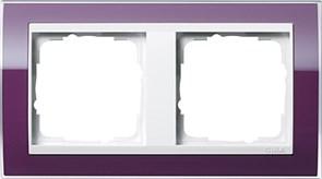 Рамка 2-пост, Gira Event Clear для центральных вставок белого цвета цвет кабачка