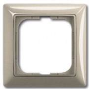 Рамка ABB Basic 55 с декоративной накладкой - одноместная (шампань)