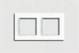 Рамка двойная, для горизонтального/вертикального монтажа Jung A creation Белый ac582ww